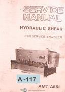 Amada AMT/AESI, Type H, Hydraulic Shear, Service Engineer Manual Year (1983)