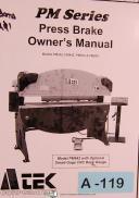 Atek PM Series, Press Brake, Owner's Manual Year (2003)