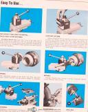 Aloris Turret Lathe, Quick Change Tool Holders Boring Bars & Acces Manual 1971