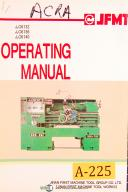 Acra, China J1C6132, 36, 40 - J1C6232,Horizontal Lathe, Operations Manual