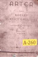 Arter Model B, Rotary Surface Grinder, Opeator's Handbook Manual Year (1941)