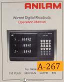 Anilam 150 Plus, 350 Plus 800 Wizard, Lathe DRO, Operations Manual Year (1996)