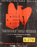 "American Tool, "" American Hole Wizard "", 13"" 15"" 17"", Radial Drill, Manual 1953"