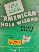 """American Tool, """" American Hole Wizard """", 13"""" 15"""" 17"""", Radial Drill, Parts Manual"""