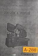 Amada HA-400, Horizontal Band Saw, Operations and Parts List Manual