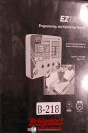 Bridgeport EZTRAK CNC Programming Control Operation 2 3 Axis Machine Manual