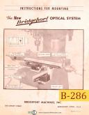 Bridgeport Optical System, Mounting & Parts List Manual