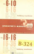 Barber Colman : Machinery Manuals | Parts Lists | Maintenance Manual on