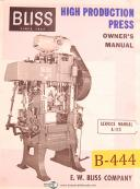 Bliss 660, Press Brake, Install Operating, A-113 Service Owners Manual