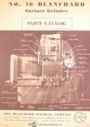 Blanchard No. 18, Grinder, Parts List Manual Year (1946)
