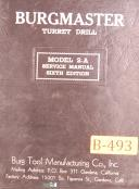 Burgmaster Model 2-A, Turret Drill, Service Manual Year (1951)