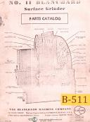 Blanchard No. 11, Surface Grinder Machine, Parts Lists Manual Year (1953)
