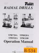 Birmingham Import Tailift, TPR 720A, TPR Series Radial Drill, Owners Manual 2006