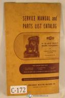 "Cincinnati 16"", 20"", 24"" Circular Milling Attachment Service & Parts List Manual"