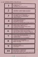 Cammann Operators Instruction C-45 Metal Disintegrator Manual