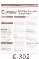 Campbell Hausfeld DH3200, DH 4200 & DH530001, Spray Guns, Operating Manual