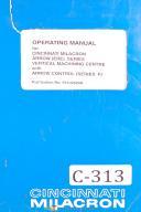 cincinnati milacron machinery manuals parts lists maintenance cincinnati milacron arrow ere series machining center operating manual 1995 arrow