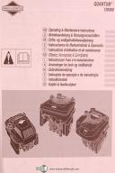 Campbell Hausfeld PW Series, Pressure Washer & Briggs Stratton Owner Manual 2003