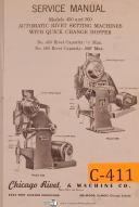 Chicago rivet No. 450 & 560, Rivet Setting Machine, Service Manual