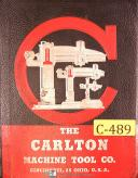 Carlton 3A 4A & 5A, 75 page - Care & Maintenance Manual 1944