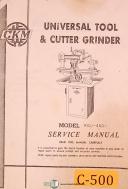 CKM KGU-450, Universal Tool & Cutter Grinder, Service Manual Year (1960)