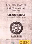 Clausing : Machinery Manuals | Parts Lists | Maintenance