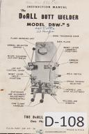 DoAll Butt Welder Model DBW No 5 Machine Manual Year (1952)