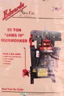 Edwards Operators Instruction Parts 55 Ton Jaws IV Ironworker Shear Manual