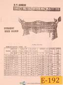 Edison EP-812, Straight Hand Folder, Instructions Manual