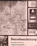 ELB N24 VAI-Z, Surface Grinding Machine, Operations and Parts List Manual 1973
