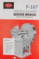 Fenn Service No 2, 4 Rotary Stationary Die Swaging Machine Manual