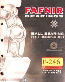 Fafnir Bearings Service Catalog 21, Manual Year (1966)