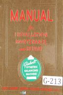 Industrial Machinery Operation Manuals, Parts Lists, Repair Manual on