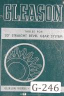 Gleason 20 degree Straight Bevel Gear System Tables Manual Year (1949)