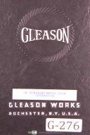 Gleason 12 Inch, Straight Bevel Gear Generator, Operations Manual Year (1941)