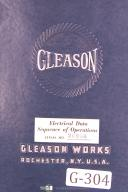 Gleason Electrical Data Sequence of Operation No 27 Grinder Manual