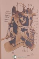 """Gleason 18"""" Planer Two Tool Generating, Operations Manual Year (1923)"""