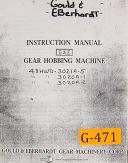 Gould & Eberhardt 48 HWD, 3000 Series, Gear Hobbing< Instructions Manual