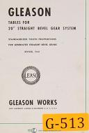 Gleason 20 Inch Straight Beveled Gear System, Tooth Proportions Manual 1960