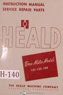 Heald Instruction Service Parts 121-122-124 Borematic Boring Manual Yr (1949)