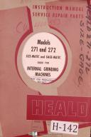 Heald Instruction Service Repair Parts 271 272 Internal Grinding Manual