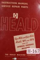 Heald Instruction Service Parts Style 271 272 Internal Grinding Manual Yr (1949)
