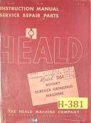 Heald No. 261, Surface Grinder, Instructions - Service and Repair Parts Manual