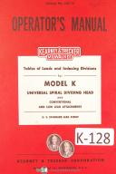 Kearney & Trecker Milwaukee Table of Leads and Indexing Divisions Milling Manual