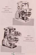 Kearney & Trecker Milwaukee Model K, No. 2, No. 3, Milling Machine Parts Manual