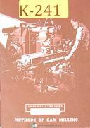 Kearney & Trecker Milwaukee, Methods of Cam Milling Manual 1958