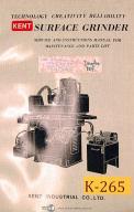 Kent KGS-200, 250 H AH AHD, 818HD 1020AHD, Grinder, Operations & Service Manual