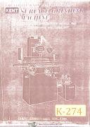 Kent KGS-250AH, Surface Grinder, Service & Parts Manual 1978
