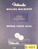 Kearney & Trecker Model H or Model K, Milling Attachments Manual