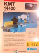 KMT KOMO 14420, Milling Parts and Maintenance Manual